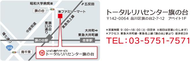 会場案内図:トータルリハセンター旗の台
